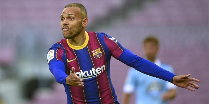 'Braithwaite maanden out bij Barcelona, Luuk de Jong enige spits'
