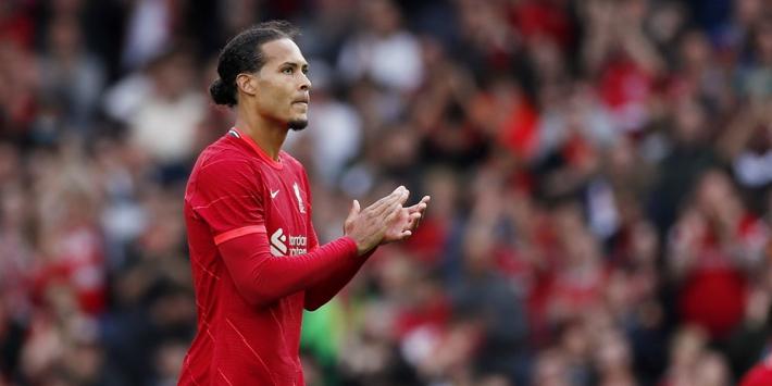 Liverpool loopt mede dankzij assist Van Dijk uit na misstap City
