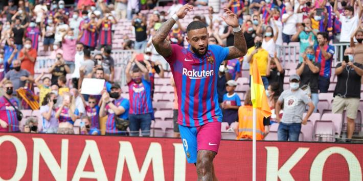 Memphis en De Jong belangrijk voor winnend Barça