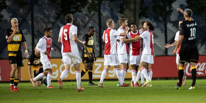 Jong Ajax geeft NAC voetballes: 4-1 na een helft spelen