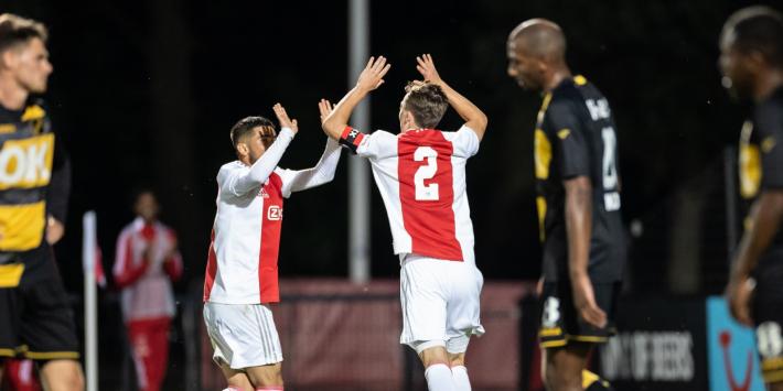Jong Ajax scoort zes keer tegen NAC, De Graafschap stelt teleur