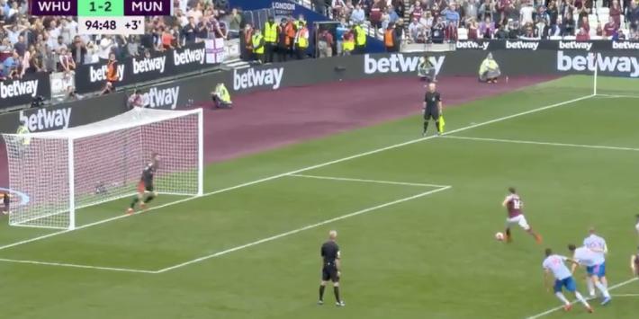 Ongekend: penaltywissel kost West Ham een punt tegen United