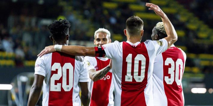 Ajax dendert door en geeft ook Fortuna Sittard pak voor de broek