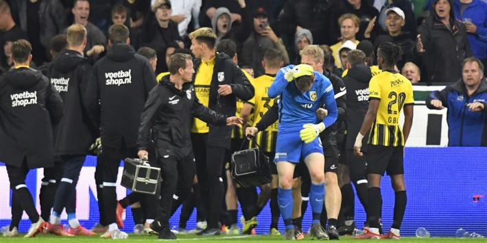 Groningen-Vitesse stilgelegd na ongeregeldheden op tribune