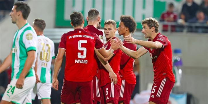 Ongekend: Bayern wint zelfs na vroege rode kaart royaal