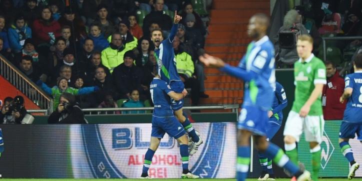 Wolfsburg bekert eenvoudig door, Werder stelt teleur