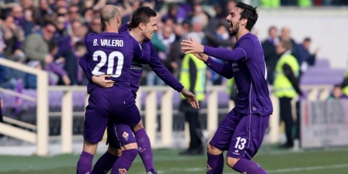 Fiorentina bekert door na late pingel in roodgekleurd duel