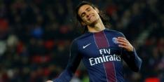 Cavani verlost PSG met strafschop, Nice wint ook nipt