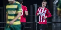 Maher en drie jongelingen met PSV op trainingskamp
