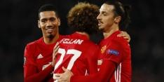 Zlatan helpt United aan winst, Huntelaar scoort voor Schalke
