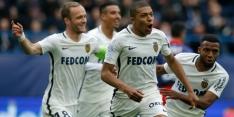 Koploper Monaco wint mede dankzij Mbappé van Caen