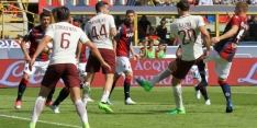 Roma wint uit van Bologna, Inter onderuit bij laagvlieger