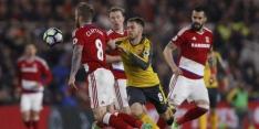 Geplaagd Arsenal boekt zege op bezoek bij Middlesbrough