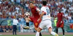 Roma verzekert zich laat van plek twee bij afscheid Totti