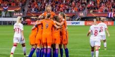 Oranje dankzij penalty met pijn en moeite langs Denen