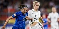 Duitse vrouwen weer naast Zweden na zege op Italië