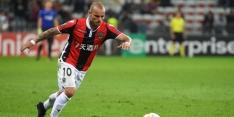 Nice verliest met invaller Sneijder van Strasbourg