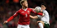 Denemarken en Ierland bewaren goals voor de return