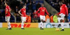 Tien man Leicester in slotfase naar punt tegen United