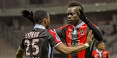 El Ghazi-loos Lille onderuit tegen Nice door Balotelli en Cyprien