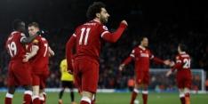 Salah scoort vier keer bij ruime zege Liverpool op Watford
