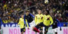 Frankrijk gaat in slotfase onderuit tegen Colombia