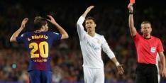 Sergio Roberto vier wedstrijden geschorst na rood in El Clásico