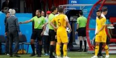 Bas Nijhuis steunt de penalty van Frankrijk tegen Australië