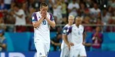 IJsland verliest van B-elftal Kroatië en moet naar huis