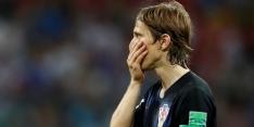 Modric bekeek beelden van Schmeichel, maar miste penalty toch