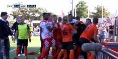 Video: Katwijk - Kozakken Boys ontsiert door vechtpartij