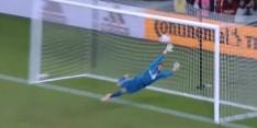 Rooney doet het: afgemeten vrije trap laat keeper kansloos