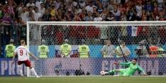 Jørgensen klaar om penalty te nemen ondanks misser op het WK