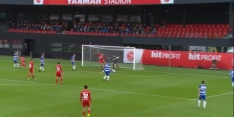 Video: fraaie goal achter het standbeen in Tweede Divisie