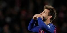 Piqué ziet verband tussen zwakke start Barça en verre tripjes