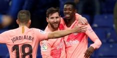 Barcelona geeft voetbalshow weg tegen Espanyol