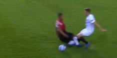 Video: slechts geel krijgt Valencia voor zijn bikkelharde tackle