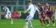 Ronaldo beslist met rake strafschop derby van Turijn