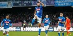 Minimale zege Napoli, situatie AC Milan wordt steeds erger