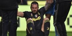 Juventus moet geblesseerde Bonucci komende tijd missen