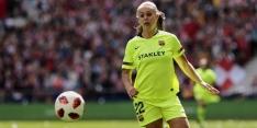 Martens maakt haar rentree bij ruime zege van FC Barcelona