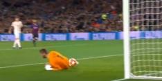 Video: Messi profiteert van gigantische flater De Gea