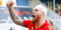"""Verheydt mist doelpunt Go Ahead: """"Voorhoofd helemaal open"""""""