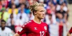 Dolberg schiet met scherp tijdens ruime oefenzege Denemarken