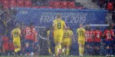 Moeizame zege Zweden op debutant Chili na hevige onweersbui