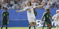 Duitsland simpel kwartfinalist na overwinning op Nigeria
