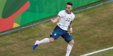 Argentinië voorkomt fiasco en bereikt kwartfinale Copa