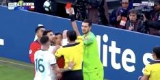 Video: Messi krijgt in troostfinale rood na opstootje