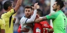 Argentinië pakt Copa-brons ondanks bizarre rode kaart Messi