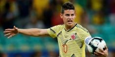 'James Rodriguez loopt een zware knieblessure op bij Colombia'